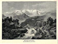 J. W. Twinning Monte Rosa e Val Anzasca entusiasta-soggetto Histor. pressione v.1900