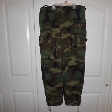 Medium Pants US Military TYPE I Chemical Protection Suit Woodland Camo