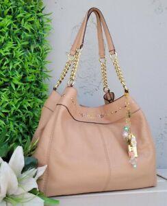 Coach 25894 leather lexy chain floral shoulder hobo purse handbag carryall bag