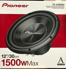 "Pioneer - TS-A300D4 - 12"" Dual 4 ohms Voice Coil Subwoofer"