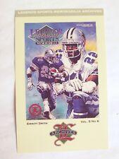 Emmit SMITH, Legends Sports Memorabilia Archives-Postcard- 1993/Free Ship.  USA