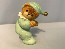 "Lucy Rigg Enesco Lucy Me 3"" Green Tumbling Clown Head Stand Bear 1985 Figure N53"