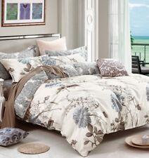 Queen Size Daisy Print Cotton Bedding Set:1 Duvet Cover & 2 Pillow Shams (524)