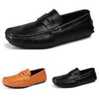 Mens Loafers Shoes Pumps Slip on Flats Driving Moccasin Soft Non-slip Breathable