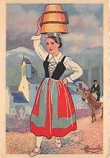 BR27746 Pays basque jeune fille des environs de tardets en cotume de fete