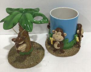 Vintage DIR Monkey Toothbrush Holder & Cup Do Your Room Target Bathroom