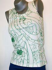 ASICS Damen Shirt Größe XS ( 32 / 34 ) weiß/grün NEU PERIC Lauf- Sport- Shirt