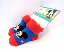 Mickey Mouse Baby Booties One Pair 0-12 months Disney Baby Cotton Poly Blend