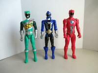 Power Rangers Red Movie Green Dino Charge Blue Mega Force Action Figure Lot 12""