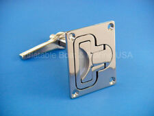 Boat Lift Handle Ring Turning Lock Latch Rectangular Marine 316 Stainless Steel