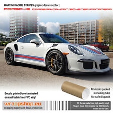 Martini Racing stripes design decals set fits to any Porsche Model