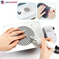 4000RPM Nail Dust Collector Desktop Built-in Nail Art Manicure Vacuum Cleaner US