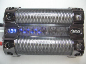 18 Farad Boss Audio CAP18 CAR AUDIO CAPACITOR WITH DIGITAL VOLTAGE DISPLAY