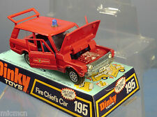 DINKY TOY'S MODEL No.195 FIRE CHIEF'S   RANGE ROVER   VN MIB