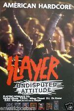 "Slayer ""Undisputed Attitude"" U.S. Promo Poster -Hardcore Rock /Speed Metal Music"