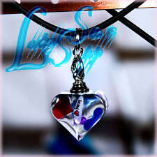 Custom Made Your Name on Rice Crystal Cute Heart Pendant w Necklace Nice Gift !