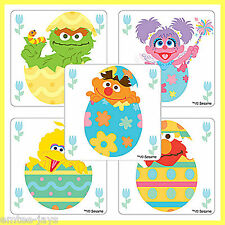 Sesame Street Stickers x 5 - Favours, Birthday Supplies - Cute - Easter Eggs!
