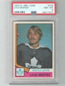 1974 OPC Lyle Moffat Rookie # 379 PSA 8 Toronto Maple Leafs