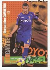 GAMBERINI FIORENTINA ITALIA RARE UPDATE STICKER CALCIATORI 2009 PANINI TOP TEAM