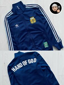 2005 2006 | Maradona Adidas Argentina Vintage Soccer Football Jacket Hand of God