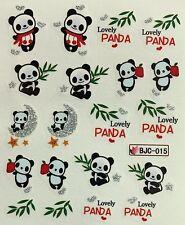 Nail Art Glitter Water Decals Lovely Panda BJC015