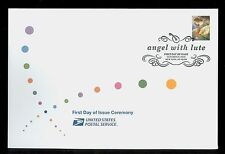 USA #4477 2010 44c Angel with Lute Stamp First Day Ceremony Program