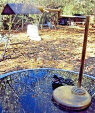 ancienne lampe de bureau articulée en laiton doré