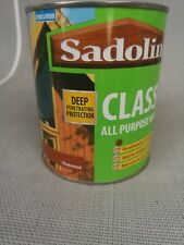 Sadolin classic all purpose wood satin quick easy application 750ml (redwood)