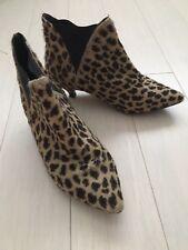 Leopard print ponyskin kitten heel ankle boots TopShop 41 11 Jcrew