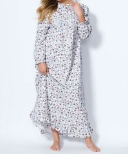 Plus Size Oasis Floral Cotton Flannel Print Nightgown Size 4X(34/36)