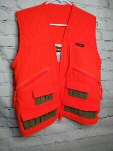 Gamehide Hunter's Orange Front-Loader Canvas Duck Hunting Vest #88349 Size L