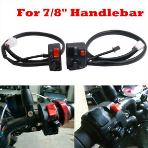 "1PCS Motorcycle 22mm 7/8"" Handle Bar Ignition Engine Stop Lamp Horn Light Switch"