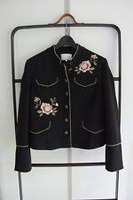 MINT & BERRY Blazer Jacke, Military- Stil, Schwarz & Motiv, Gr 40 L * WIE NEU *