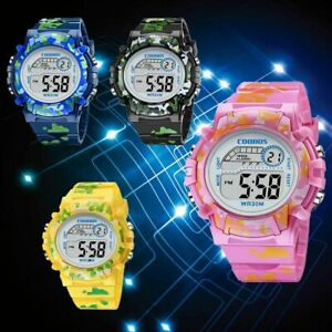 Girls Boys Digital Sport Wrist Watch Led Light Alarm Date Children Kids Gift