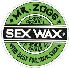 X2 Mr Zog's Sex Wax Stickers.  VW TRANSPORTER BEETLE CAMPER CADDY SURF