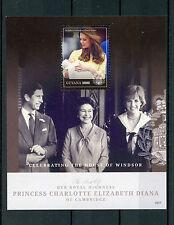 Guyana 2015 MNH Princess Charlotte Birth Royal Baby 1v S/S Prince William Diana