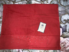 BNWT MAISON RED CRYSTAL HAND TOWEL