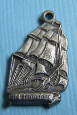 Vintage U.S.S. Constitution Old Ironsides ship Massachusetts MA sterling charm