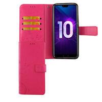 Huawei Honor 10 Hülle Case Handy Cover Schutz Tasche Flip Schutzhülle Etuis Pink