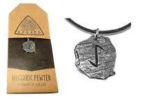 Viking Eihwaz, Slate-look Celtic Rune Stone Pendant Necklace (Protection)