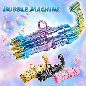 Gatling Machine Bubbler Bubble Maker Automatic Bubble Blowing Children's Toy Gun