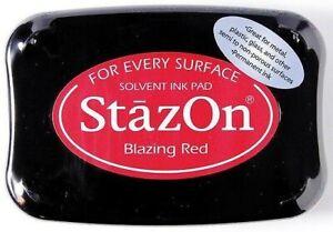 Stempelkissen Stazon Blazing red wasserfeste Stempelfarbe permanent SZ-21