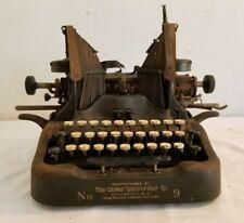 "Antique OLIVER ""Standard Visible Writer"" No. 9 BatWing Typewriter 1913 for Parts"