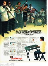 PUBLICITE ADVERTISING 056  1982  le clavier piano Bontempi