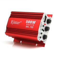 2CH 500W Red Car Stereo Amplifier Audio AMP For Car Motorcycle Boat MP3 FM 12V