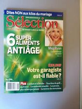 "Selection Reader's Digest Magazine Mai 2002 ""6 Super aliments anti-age, Meg Ryan"
