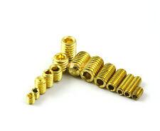 100 Pieces M3 x 8mm Brass Grub Screws Cup Point Hex Socket Set Screw