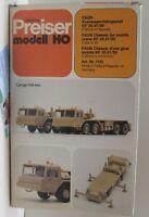 Preiser 1110: Faun Kranwagenfahrgestell KF 35.41/50,  2 Stück im Bausatz  1:87