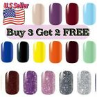 Nail Polish Strips Solid Glitters Nail Wraps Stickers Buy3 Get 2FREE Plain Color