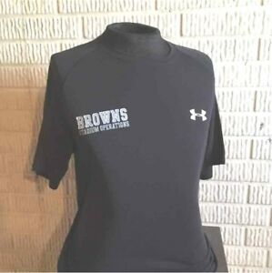 CLEVELAND BROWNS Under Armour STADIUM OPERATIONS black athletic shirt men's M